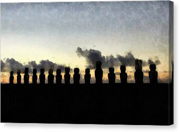 Easter Island Canvas Print by Sarah Kirk
