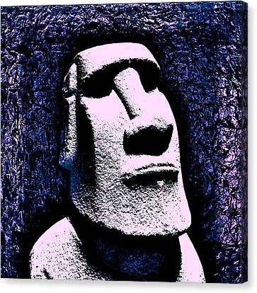 Booze Canvas Print - Easter Island  by Tiki Bender