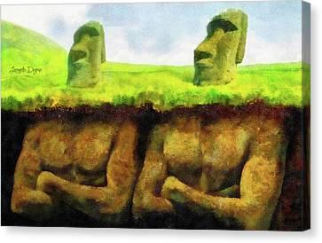 Easter Island Truth Canvas Print by Leonardo Digenio