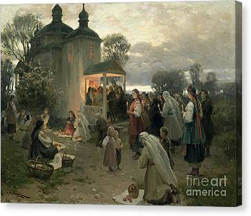 Easter Matins Canvas Print by Nikolai Pimonenko