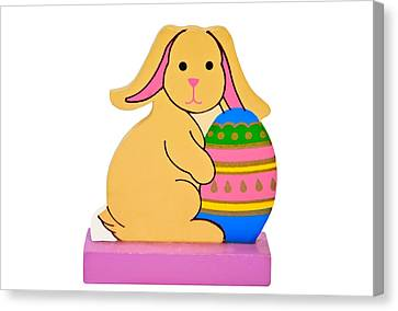 Easter Rabbit With Egg Canvas Print