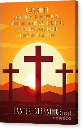 Canvas Print featuring the digital art Easter Resurrection by JH Designs