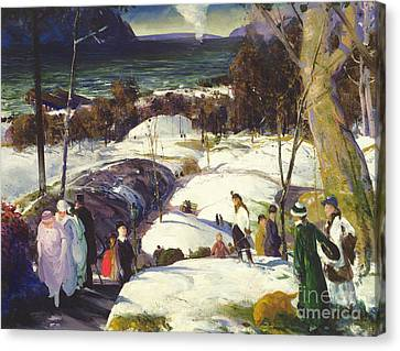 Easter Snow Canvas Print by George Wesley Bellows