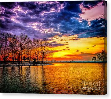 Canvas Print featuring the photograph Easter Sunset At Riverview Beach Park by Nick Zelinsky