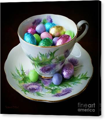 Easter Teacup Canvas Print by Robert ONeil