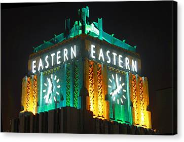 Eastern Columbia Clock Canvas Print by Shoal Hollingsworth