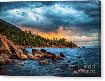 Eastern Glow At Sunset Canvas Print by Anthony Bonafede