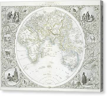 Sphere Canvas Print - Eastern Hemisphere by John Rapkin
