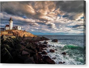 Eastern Point Light Canvas Print by Scott Thorp