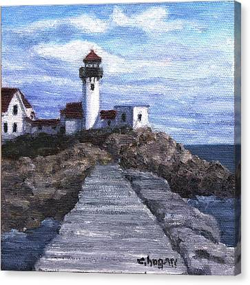 Eastern Point Lighthouse Canvas Print by Candi Hogan