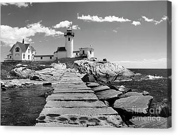 Eastern Point Lighthouse Ma Canvas Print by Skip Willits