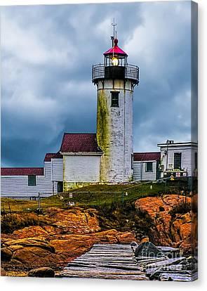 Eastern Point Lighthouse Canvas Print by Nick Zelinsky
