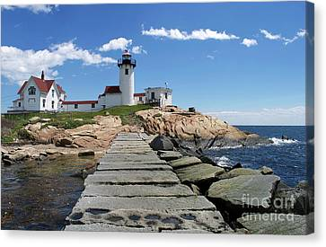 Eastern Point Lighthouse Canvas Print by Skip Willits