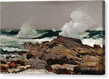 Crashing Canvas Print - Eastern Point by Winslow Homer