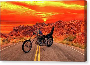 Canvas Print featuring the photograph Easy Rider Chopper by Louis Ferreira