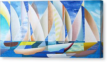 Canvas Print featuring the painting Easy Sailing by Douglas Pike
