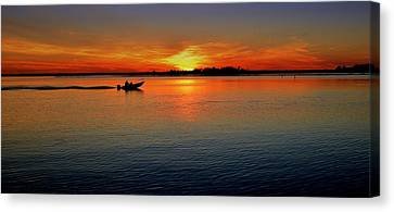 Easy Sunday Sunset Canvas Print by Allen Beilschmidt