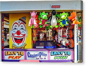 Easy To Win, Seaside Heights Boardwalk Game Canvas Print by Bob Cuthbert
