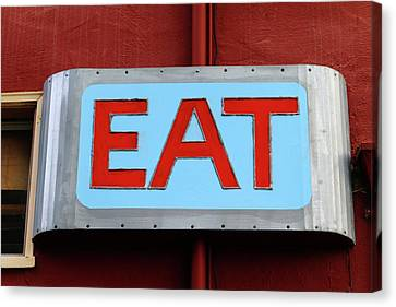 Eat Canvas Print by Art Block Collections