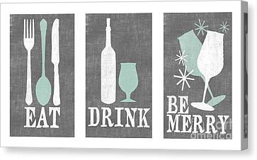 Celebrate Canvas Print - Eat Drink Be Merry by Misty Diller