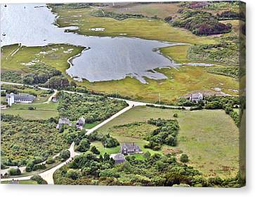 Eat Fire Spring Road Polpis Nantucket Island 4 Canvas Print by Duncan Pearson