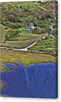 Eat Fire Spring Road Polpis Nantucket Island  Canvas Print by Duncan Pearson