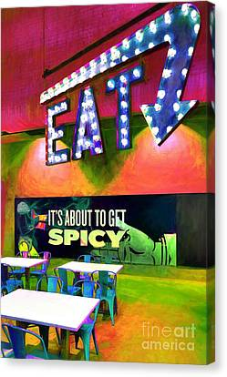 Eat Spicy Food Canvas Print