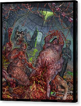 Eating The Stench Canvas Print by Tony Koehl