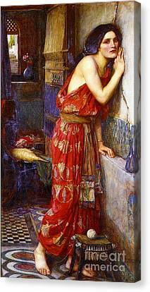 Eavesdropping 1909 Canvas Print by Padre Art