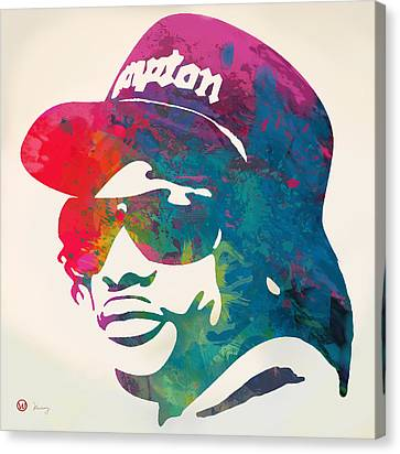Eazy-e Pop  Stylised Pop Art Poster Canvas Print by Kim Wang