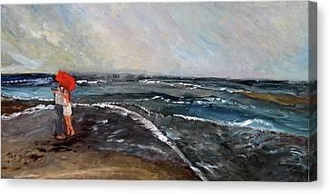 Ebb Tide Canvas Print by Michael Helfen