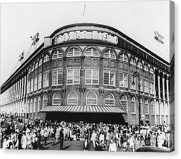 Ebbets Field, Brooklyn, Nyc Canvas Print by Photo Researchers
