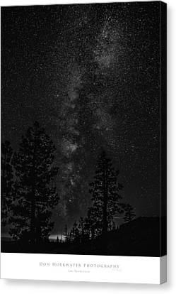 Ebbetts Pass Night In Black And White Canvas Print