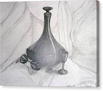 Decanters Canvas Print - Ebony Decanter by Carla Vivrette