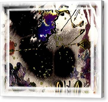 Canvas Print featuring the mixed media Ebony Nights by Angela L Walker
