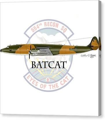 Ec-121r Batcat Canvas Print