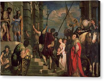 Ecce Homo, 1543 Canvas Print by Titian