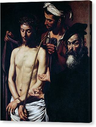 Ecce Homo, 1605 Canvas Print by Caravaggio