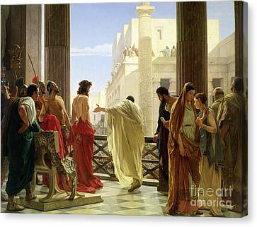 Pilate Canvas Print - Ecce Homo by Antonio Ciseri
