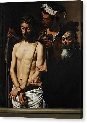 Ecce Homo  Canvas Print by Caravaggio