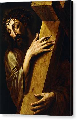 The Wooden Cross Canvas Print - Ecce Homo by Michiel Coxie
