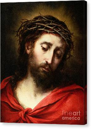 Ecce Homo, Or Suffering Christ Canvas Print by Bartolome Esteban Murillo