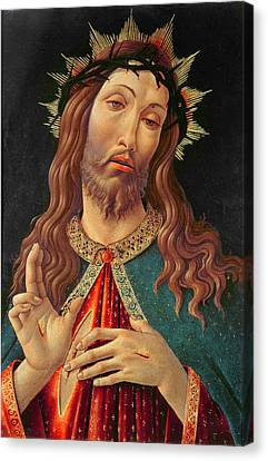 Redeemer Canvas Print - Ecce Homo Or The Redeemer by Botticelli