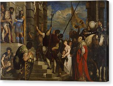Ecce Homo Canvas Print by Titian