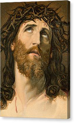 Looking To The Heavens Canvas Print - Ecce Homo by William Dickes