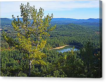 Echo Lake From Cathedral Ledge Bartlett New Hampshire Canvas Print
