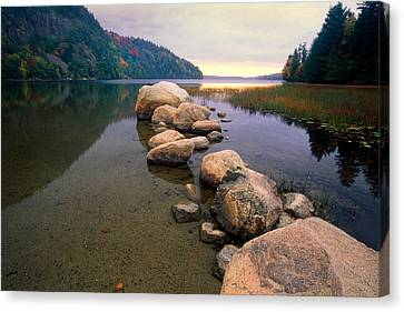 Echo Lake Sunset Canvas Print by George Oze