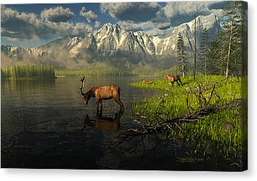 Echoes Of A Lost Frontier Canvas Print by Dieter Carlton