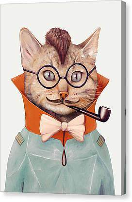 Eclectic Cat Canvas Print by Animal Crew