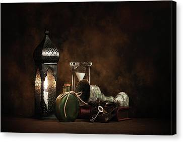 Candle Lit Canvas Print - Eclectic Ensemble by Tom Mc Nemar